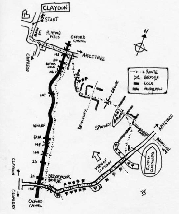 Walk 2 - Broadmoor Bridge Circuit Map