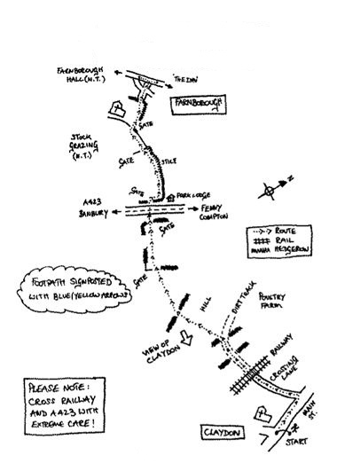 Walk-5-Claydon-to-Farnborough-Map